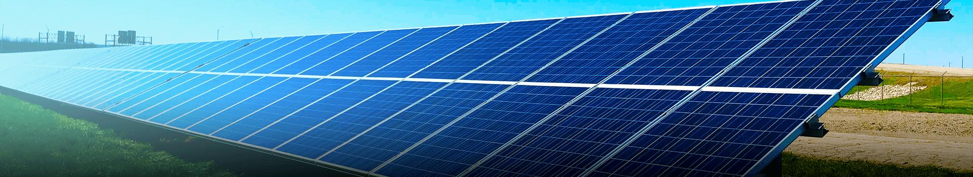 Bifaciale zonnepanelen op de grond